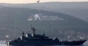 Üç rus savaş gemisi boğazları geçti