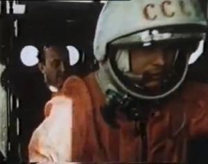 Yuri Garagin Vostok bir füzesine giriş yaparken
