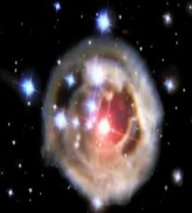 20.000 ışıkyılı uzaklıktaki bir yıldız kümesi içindeki bir yıldızın ani parlama görüntüsü