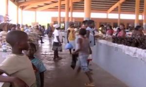 Angola'da bir pazar yeri