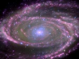 M81 sarmal gökadasındaki kara deliğin görünümü.