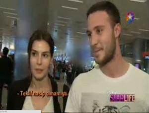 Hatice Şendil, Burak Sağyaşar  hava alanında