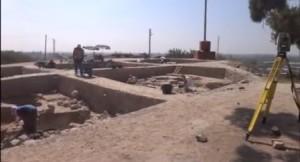 Tarsus Gözlükule kazı çalışmalarından bir görüntü 2012