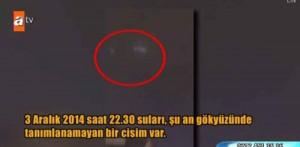 İstanbul'da görüntülenen ufo